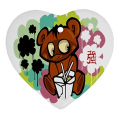 Bear Cute Baby Cartoon Chinese Heart Ornament (two Sides)