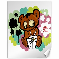 Bear Cute Baby Cartoon Chinese Canvas 12  X 16
