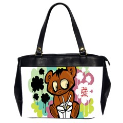 Bear Cute Baby Cartoon Chinese Office Handbags (2 Sides)  by Nexatart