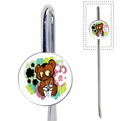 Bear Cute Baby Cartoon Chinese Book Mark by Nexatart
