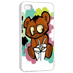 Bear Cute Baby Cartoon Chinese Apple Iphone 4/4s Seamless Case (white)