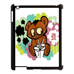 Bear Cute Baby Cartoon Chinese Apple Ipad 3/4 Case (black)