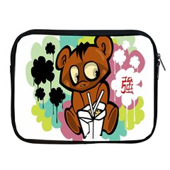Bear Cute Baby Cartoon Chinese Apple Ipad 2/3/4 Zipper Cases by Nexatart