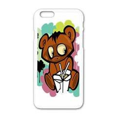 Bear Cute Baby Cartoon Chinese Apple Iphone 6/6s White Enamel Case