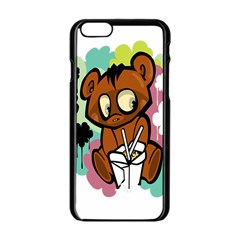 Bear Cute Baby Cartoon Chinese Apple Iphone 6/6s Black Enamel Case by Nexatart