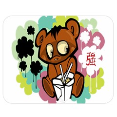 Bear Cute Baby Cartoon Chinese Double Sided Flano Blanket (medium)  by Nexatart