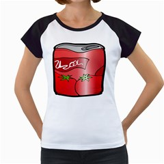 Beverage Can Drink Juice Tomato Women s Cap Sleeve T