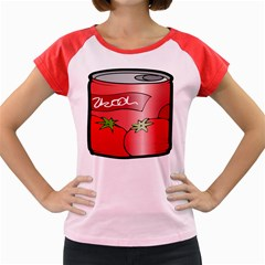 Beverage Can Drink Juice Tomato Women s Cap Sleeve T Shirt