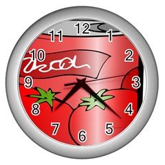 Beverage Can Drink Juice Tomato Wall Clocks (silver)  by Nexatart