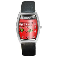 Beverage Can Drink Juice Tomato Barrel Style Metal Watch