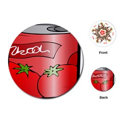 Beverage Can Drink Juice Tomato Playing Cards (round)