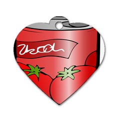 Beverage Can Drink Juice Tomato Dog Tag Heart (one Side)