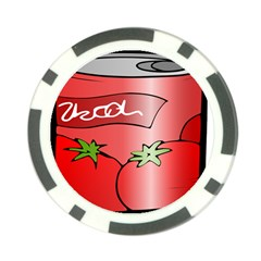 Beverage Can Drink Juice Tomato Poker Chip Card Guard (10 Pack)