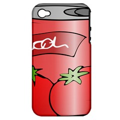 Beverage Can Drink Juice Tomato Apple Iphone 4/4s Hardshell Case (pc+silicone)