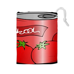 Beverage Can Drink Juice Tomato Drawstring Pouches (large)  by Nexatart