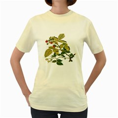 Berries Berry Food Fruit Herbal Women s Yellow T Shirt