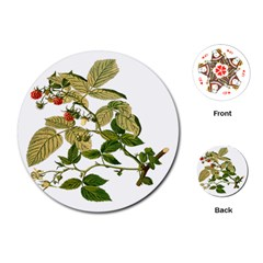 Berries Berry Food Fruit Herbal Playing Cards (round)  by Nexatart