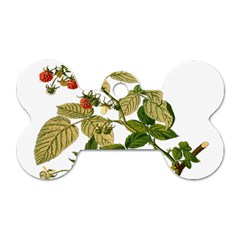 Berries Berry Food Fruit Herbal Dog Tag Bone (two Sides)