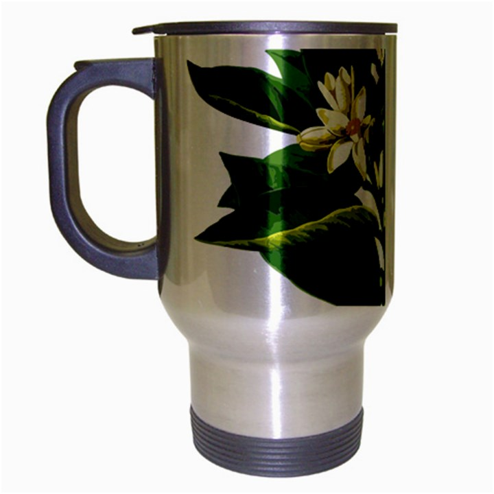 Bitter Branch Citrus Edible Floral Travel Mug (Silver Gray)