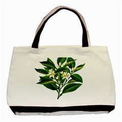 Bitter Branch Citrus Edible Floral Basic Tote Bag (two Sides) by Nexatart