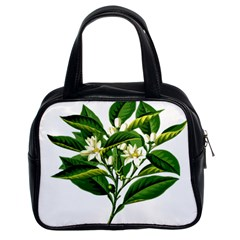 Bitter Branch Citrus Edible Floral Classic Handbags (2 Sides) by Nexatart