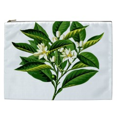Bitter Branch Citrus Edible Floral Cosmetic Bag (xxl)  by Nexatart