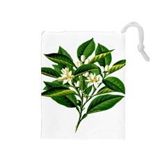 Bitter Branch Citrus Edible Floral Drawstring Pouches (medium)