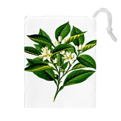 Bitter Branch Citrus Edible Floral Drawstring Pouches (extra Large) by Nexatart