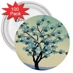 Branches Field Flora Forest Fruits 3  Buttons (100 Pack)