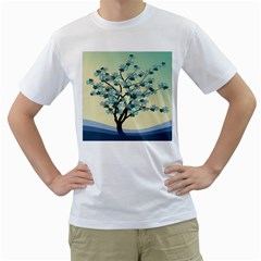 Branches Field Flora Forest Fruits Men s T Shirt (white) (two Sided)