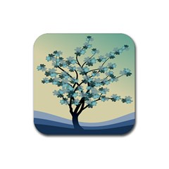 Branches Field Flora Forest Fruits Rubber Square Coaster (4 Pack)  by Nexatart