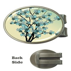 Branches Field Flora Forest Fruits Money Clips (oval)  by Nexatart