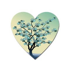 Branches Field Flora Forest Fruits Heart Magnet by Nexatart