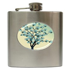 Branches Field Flora Forest Fruits Hip Flask (6 Oz) by Nexatart