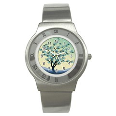 Branches Field Flora Forest Fruits Stainless Steel Watch