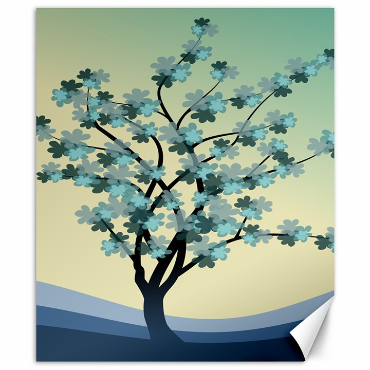Branches Field Flora Forest Fruits Canvas 8  x 10