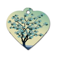 Branches Field Flora Forest Fruits Dog Tag Heart (two Sides)
