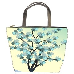 Branches Field Flora Forest Fruits Bucket Bags