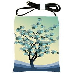 Branches Field Flora Forest Fruits Shoulder Sling Bags by Nexatart
