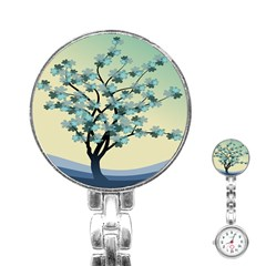 Branches Field Flora Forest Fruits Stainless Steel Nurses Watch by Nexatart