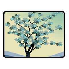 Branches Field Flora Forest Fruits Double Sided Fleece Blanket (small)