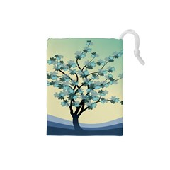 Branches Field Flora Forest Fruits Drawstring Pouches (small)  by Nexatart