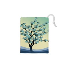 Branches Field Flora Forest Fruits Drawstring Pouches (xs)