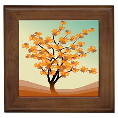 Branches Field Flora Forest Fruits Framed Tiles by Nexatart
