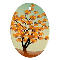 Branches Field Flora Forest Fruits Ornament (oval) by Nexatart