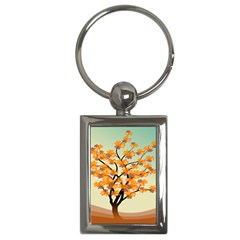Branches Field Flora Forest Fruits Key Chains (rectangle)  by Nexatart
