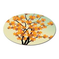 Branches Field Flora Forest Fruits Oval Magnet by Nexatart