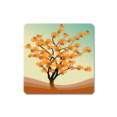 Branches Field Flora Forest Fruits Square Magnet by Nexatart