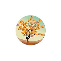 Branches Field Flora Forest Fruits Golf Ball Marker (4 Pack)