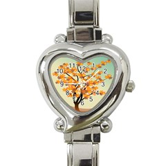 Branches Field Flora Forest Fruits Heart Italian Charm Watch by Nexatart